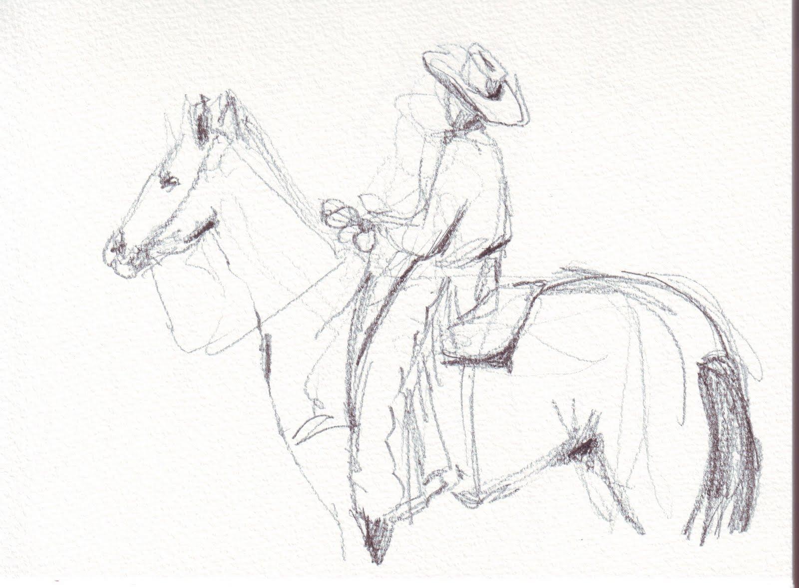 Bull Riding Sketch Templates