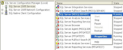 SQL Server Configuration Manager for SQL Server 2005