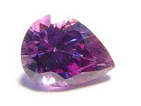 Cubic Zirconia Amethyst Color Pear AAA Quality Stones