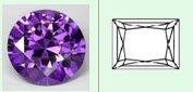Loose Cubic zirconia amethyst color baguette stones
