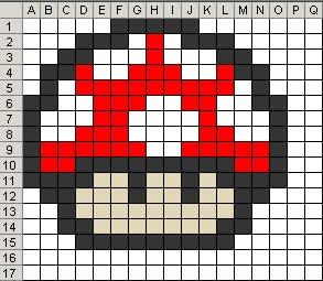 Pixelated Mushroom Pixelated Mushroom Rug