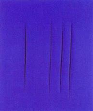 Olio su tela di Lucio Fontana