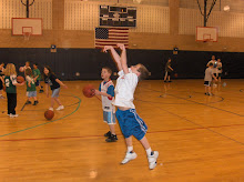 Daron shooting hoop at age 5