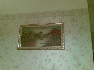 Aku Pasang Wallpapers Kat Sebuah Rumah Di Danau Kota Konsep Kali Ni Ialah English Style That Is Why It Looks Very Sweet Corak Pun Bunga2 P