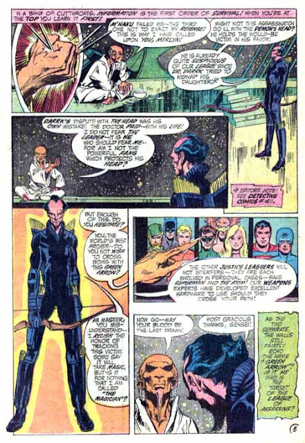 Justice League of America v1 #94 dc comic book page art by Neal Adams