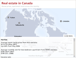 Interactive Map Of Real Estate And Rent Prices For Canada