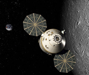 The Orion spacecraft enters lunar orbit