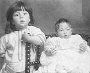 Millvina Dean, the last survivor of the Titanic, and her brother following their rescue