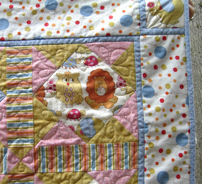 Zoo Party quilting detail