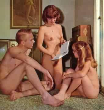 Family nudist models
