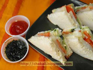 Veg Sandwich, Mumbai street food sub
