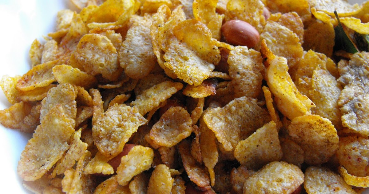 Cake Recipe In Marathi Chakali: मक्याचा चिवडा - Corn Flakes Chivda