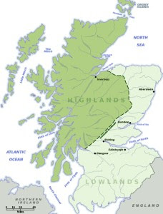 range of Scottish wildcat