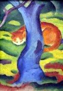 Franz Marc Cat Behind a Tree