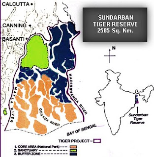 Sunderbans map
