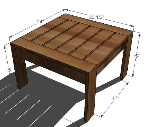 Simple Outdoor Kitchens: Ottoman Or Accent Table For Simple Modern