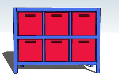 6 Cube Bookshelf Ana White