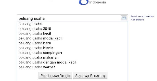 Mencari kata kunci populer di Google