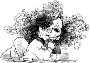 Colette caricature