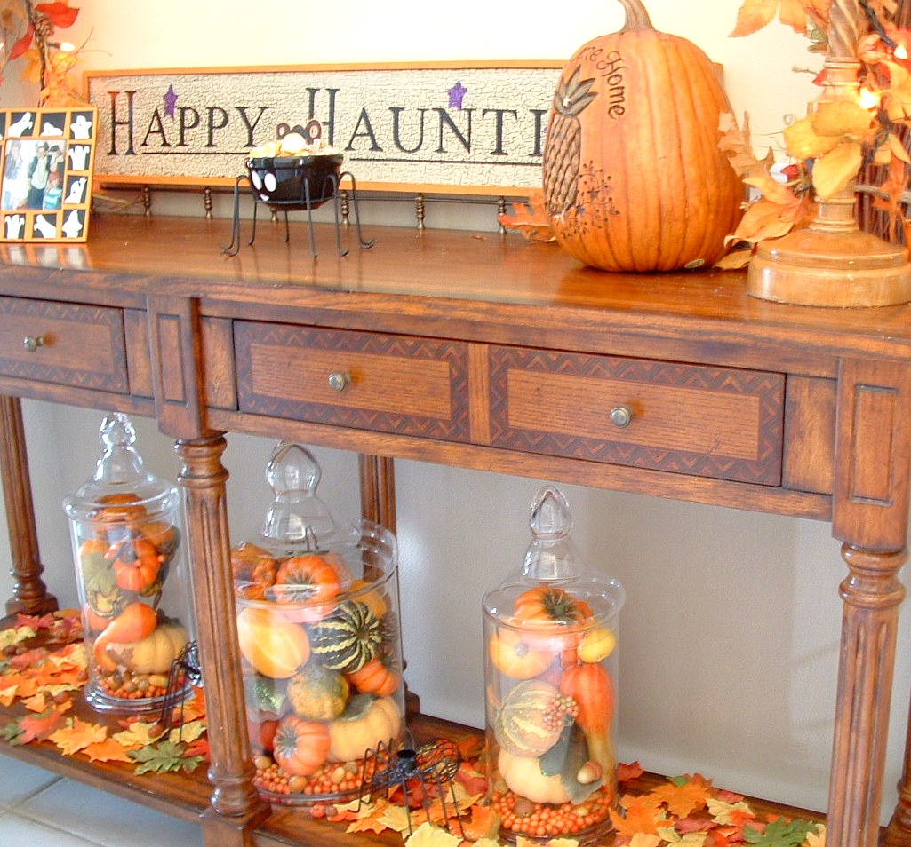 Fall Table Decorations Ideas: Sherri's Jubilee: Pumpkins, Gourds And Indian Corn