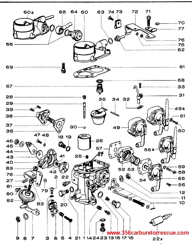 ajuste de motor  despiece carburador solex 32 picb