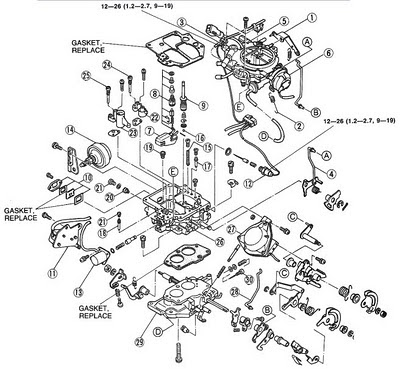 Despiece Carburador Nikki Chevrolet Luv 11 on vw wiring diagram