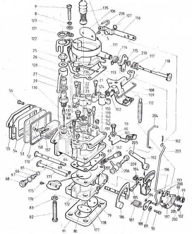 chevy carburetor parts diagram