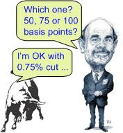Feds cut interest rate 0.75%