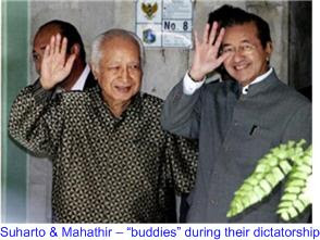 Suharto Mahathir - buddies during dictatorship