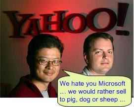 Yahoo hates Microsoft