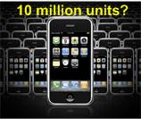 iPhone sales 10 million units