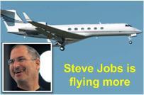 Steve Jobs Flying More