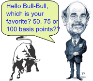 Ben Bernanke to cut 50 75 or 100?