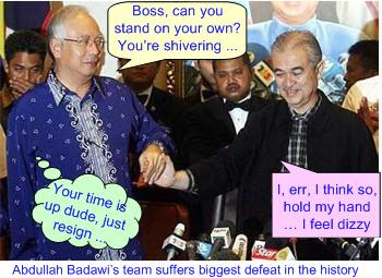 Badawi conference after defeat