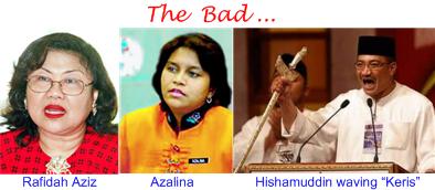Rafidah Azalina Hishamuddin - the Bad