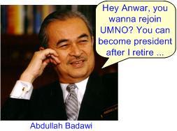 Badawi invite Anwar rejoin UMNO?