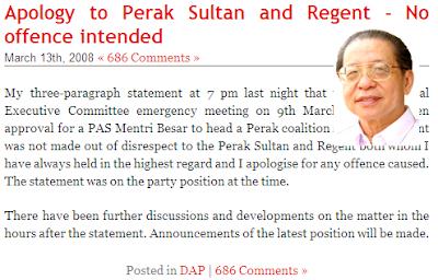 Lim Kit Siang Apology