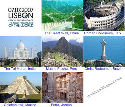 The New 7 Wonders Of World On 070707
