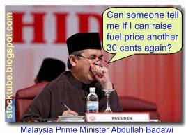 Badawi Raise Fuel Price
