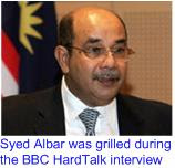 BBC Syed Albar grilled