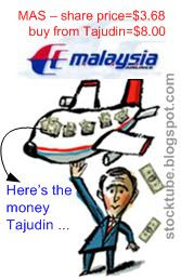 Government bailout Tajuddin's MAS