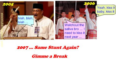 Using Keris at UMNO AGM