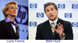 Carly Fiorina and Mark Hurd