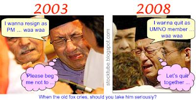 Mahathir quits UMNO