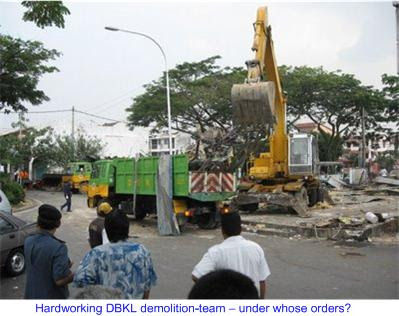 Desa Setapak bulldozed by DBKL