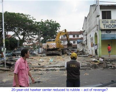 Desa Setapak hawker center reduced to rubble