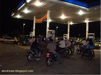 Petrol pump rush