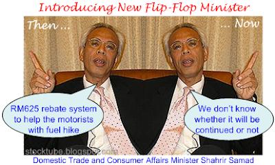 New flip flop minister shahrir samad
