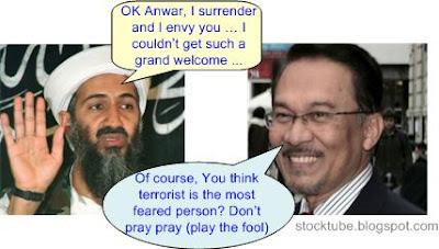 Osama envy Anwar