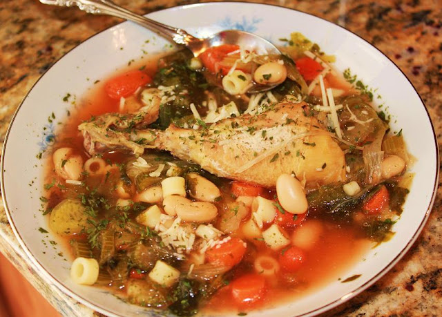 ... Cuisine: Italian Chicken Soup with White Beans, Escarole and Ditalini